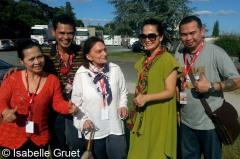 Mady Villard et artistes du Sarawak