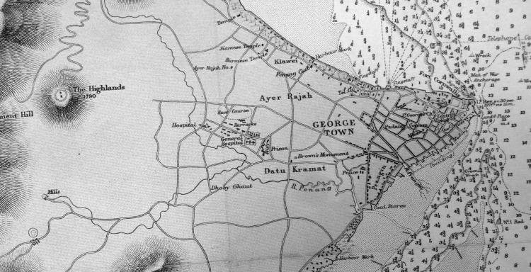 Penang_Harbour_HMS_Magpie_1884_George_Town_map