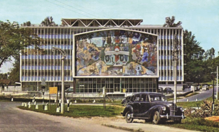 Le Dewan Bahasa dan Pustaka, à Kuala Lumpur, dans les années 1960.